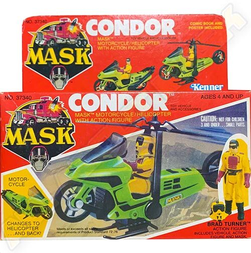 """Kenner M.A.S.K. Condor US box first wave. Incl. the short mask, booklet and poster. For more details have a look to """"Differences US boxes first toyline"""""""