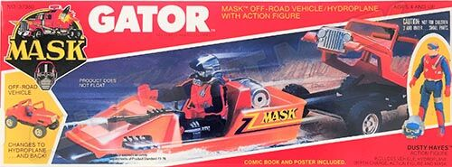 """Kenner M.A.S.K. Gator US box first wave. Incl. the short masks, booklet and poster. For more details have a look to """"Differences US boxes first toyline"""""""