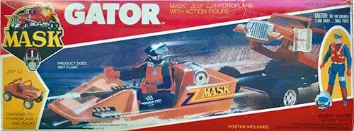 """Kenner M.A.S.K. Gator US box second wave. Incl. the long masks and poster. For more details have a look to """"Differences US boxes first toyline"""""""
