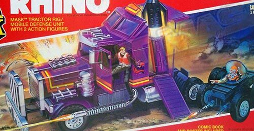 Kenner M.A.S.K. Rhino differences boxes 1