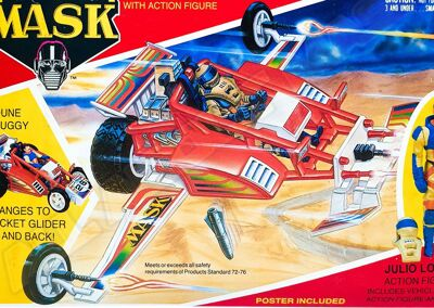 Kenner M.A.S.K. Firefly differences boxes 1
