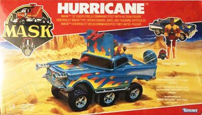 Kenner M.A.S.K. Hurricane German box. Logo without missile launching.