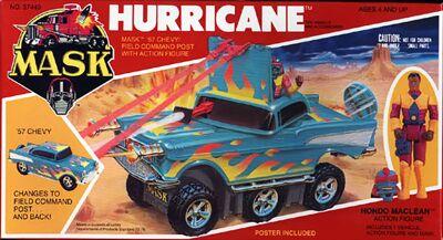 Kenner M.A.S.K. Hurricane US Box