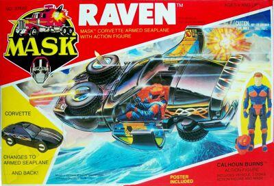 Kenner M.A.S.K. Raven US Box