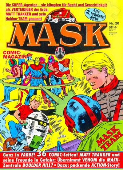 M.A.S.K. M.A.S.K. German comic no. 20