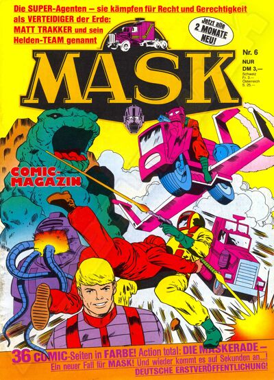 M.A.S.K. M.A.S.K. German comic no. 06