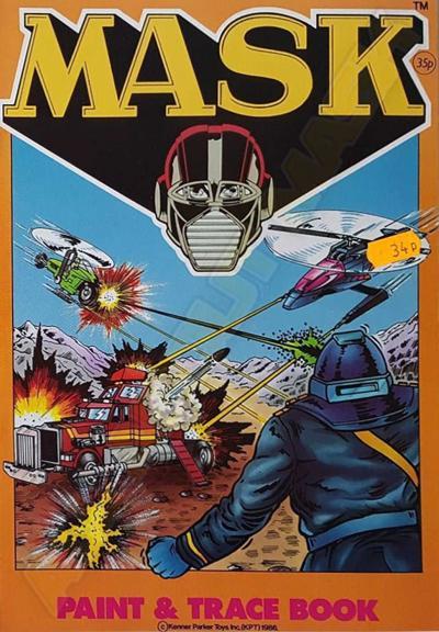 M.A.S.K. M.A.S.K. Coloring book Paint and trace book Miles Mayhem, Rhino, Condor & Switchblade