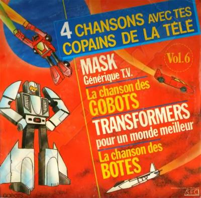 M.A.S.K. M.A.S.K. vinyl from france different theme songs incl. M.A.S.K.