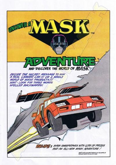 M.A.S.K. Undercover a MASK adventurepromotional comic