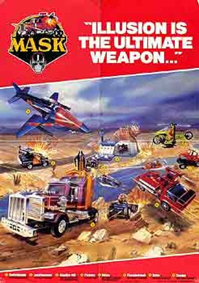 M.A.S.K. M.A.S.K. poster Illusion is the ultimate weapon