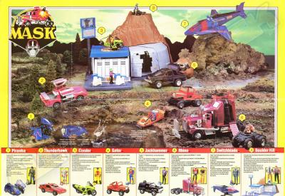 M.A.S.K. M.A.S.K. Europe poster first toyline