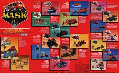 M.A.S.K. M.A.S.K. poster first and second toyline