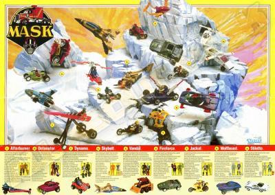 M.A.S.K. M.A.S.K. Europe poster Split Seconds toyline