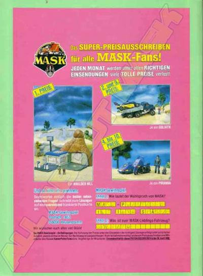 M.A.S.K. Sweepstake Germany 1988