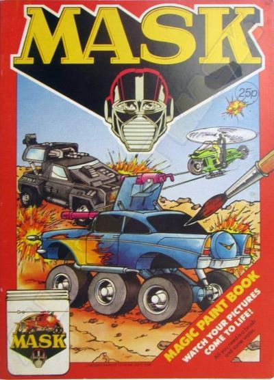 M.A.S.K. M.A.S.K. Coloring book Magic Paintbook Condor, Hurricane & Jackhammer