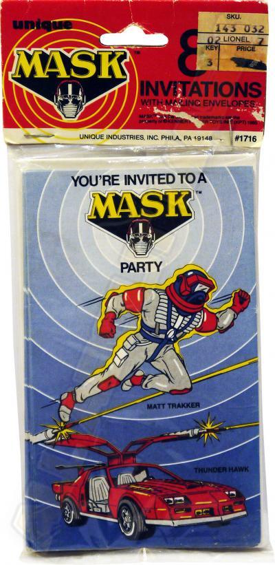 M.A.S.K. M.A.S.K. Invitation cards