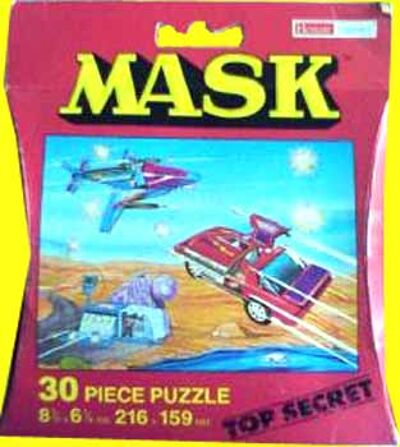M.A.S.K. M.A.S.K. Puzzle 30 pieces Thunderhawk, Boulder Hill  & Switchblade
