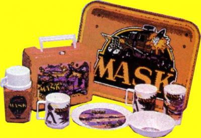 M.A.S.K. M.A.S.K. Lunchbox  Thermos, tray, plates & cups