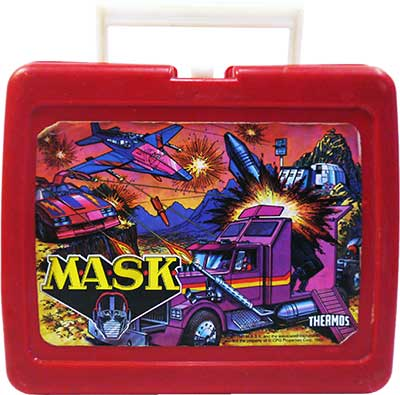 M.A.S.K. M.A.S.K. Lunchbox red Thunderhawk, Rhino, Boulder Hill & Switchblade
