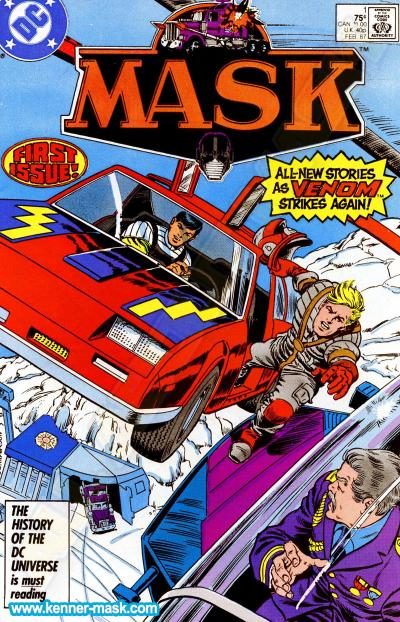 M.A.S.K. M.A.S.K. DC comic 1987 #1/9 The Ice Age Cometh