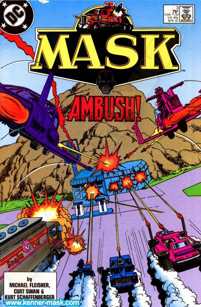 M.A.S.K. M.A.S.K. DC comic 1987 #3/9 The Switchblade Conspiracy