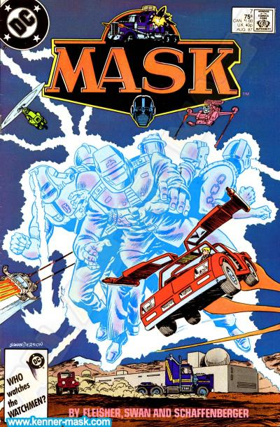 M.A.S.K. M.A.S.K. DC comic 1987 #7/9 Countdown to Doomsday