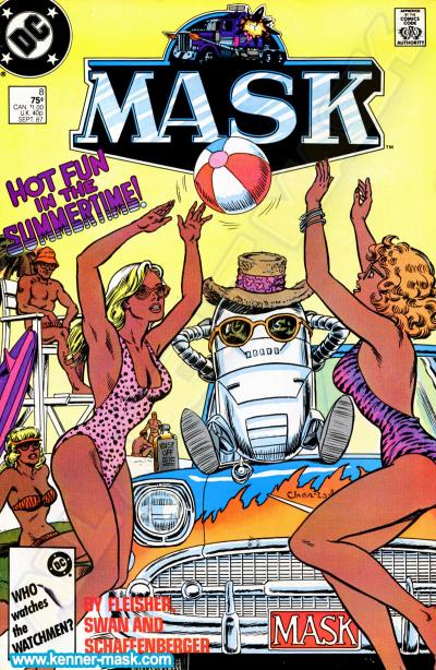 M.A.S.K. M.A.S.K. DC comic 1987 #8/9 Fun in the Sun