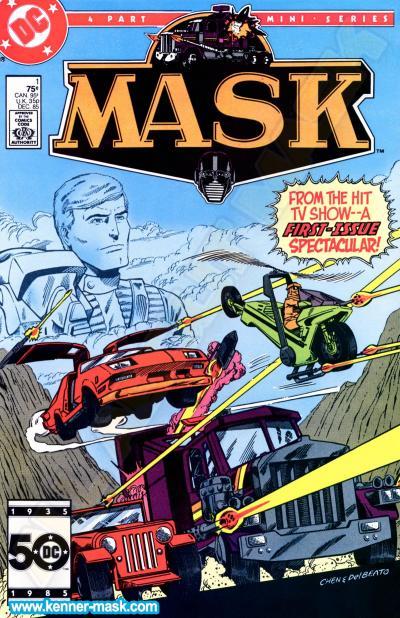 M.A.S.K. M.A.S.K. DC comic 1985 #1/4 When Opportunity Knox