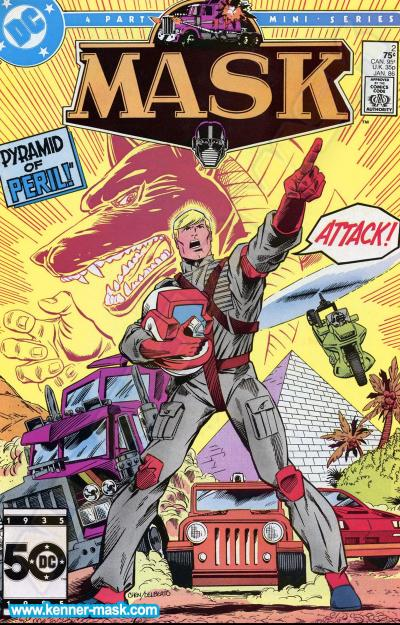 M.A.S.K. M.A.S.K. DC comic 1985 #2/4 The Domain of the Dead