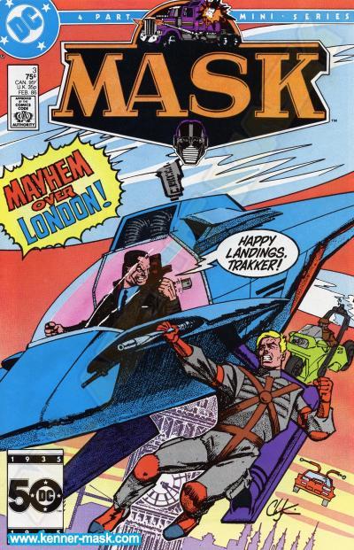 M.A.S.K. M.A.S.K. DC comic 1985 #4/4 The Day of Doom