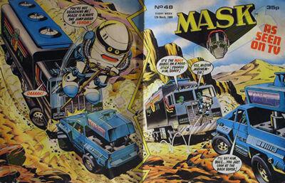 M.A.S.K. M.A.S.K. UK comic No. 48 - 12/03/1988