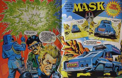 M.A.S.K. M.A.S.K. UK comic No. 54 - 23/04/1988