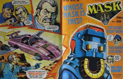 M.A.S.K. M.A.S.K. UK comic No. 59 - 28/05/1988
