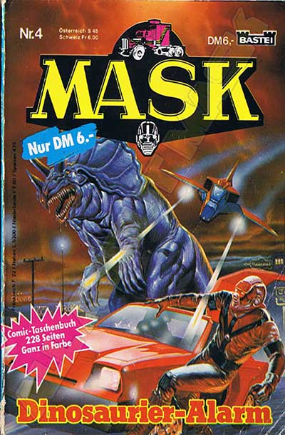M.A.S.K. M.A.S.K. Comicbook Germany no. 4 Dinosaurier-Alarm