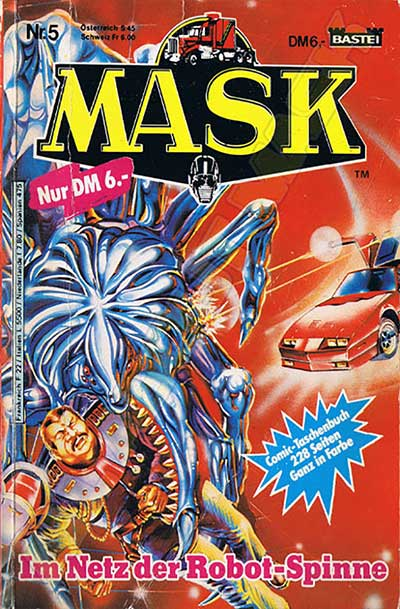 M.A.S.K. M.A.S.K. Comicbook Germany no. 5 Im Netz der Robot-Spinne