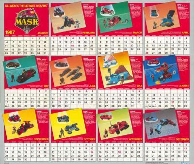 M.A.S.K. M.A.S.K. US Calendar 1987