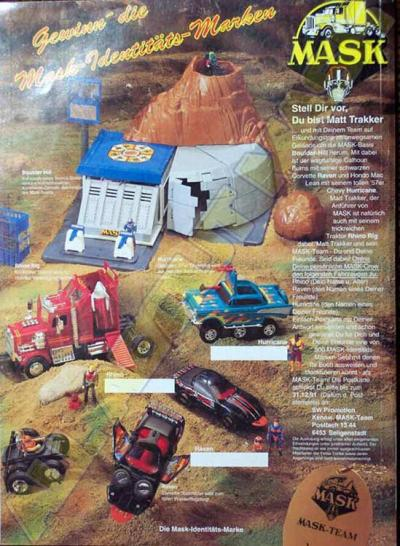 M.A.S.K. M.A.S.K. Sweepstake Germany 1990