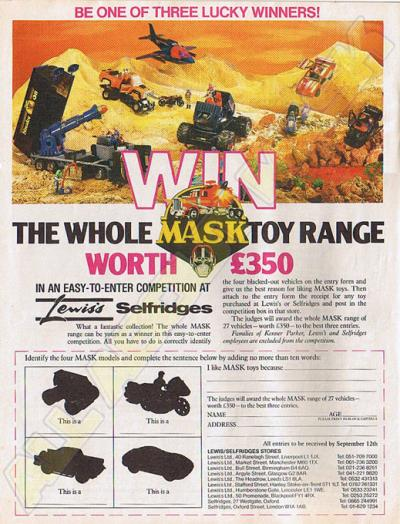 M.A.S.K. M.A.S.K. Sweepstake UK