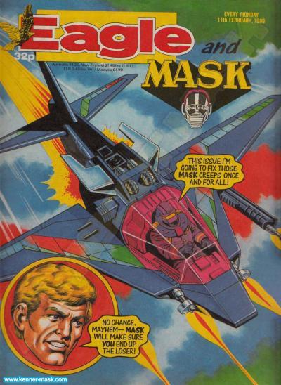 M.A.S.K. M.A.S.K. UK Eagle comic no. 360 - 11/02/1989