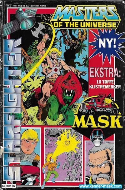 M.A.S.K. M.A.S.K. Norwegian Starfighter comic 1987 no. 2