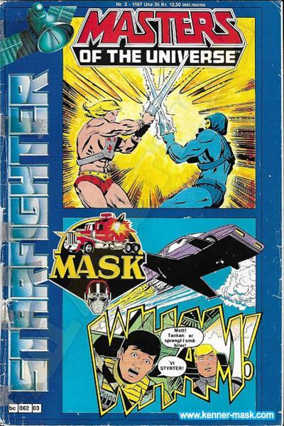 M.A.S.K. M.A.S.K. Norwegian Starfighter comic 1987 no. 3