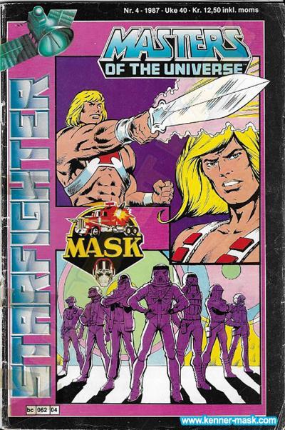 M.A.S.K. M.A.S.K. Norwegian Starfighter comic 1987 no. 4