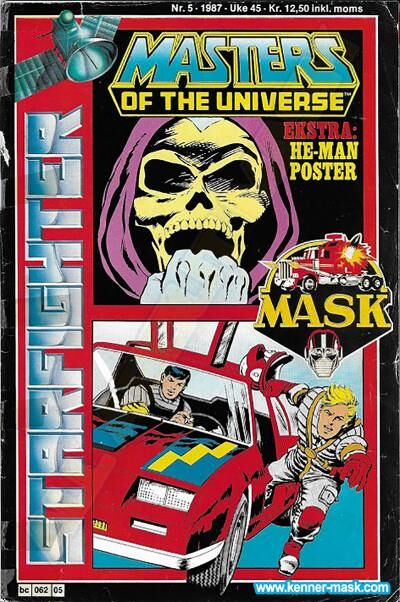 M.A.S.K. M.A.S.K. Norwegian Starfighter comic 1987 no. 5