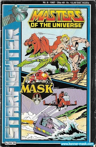 M.A.S.K. M.A.S.K. Norwegian Starfighter comic 1987 no. 6