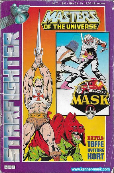 M.A.S.K. M.A.S.K. Norwegian Starfighter comic 1987 no. 7