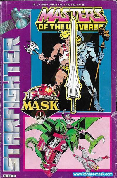 M.A.S.K. M.A.S.K. Norwegian Starfighter comic 1988 no. 3