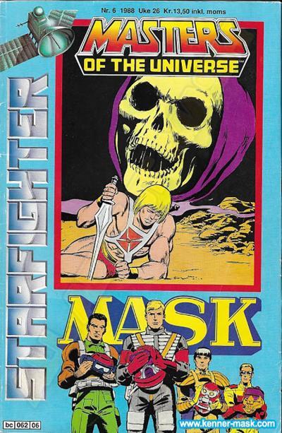 M.A.S.K. M.A.S.K. Norwegian Starfighter comic 1988 no. 6