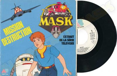 M.A.S.K. M.A.S.K. vinyl from France Mission destruction