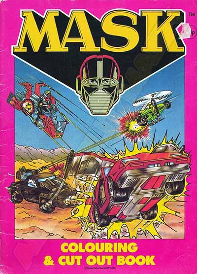 M.A.S.K. M.A.S.K. Colouring & cut out book Thunderhawk, Condor, Jackhammer & Vampire