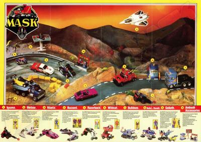 M.A.S.K. M.A.S.K. German poster Racing Toyline